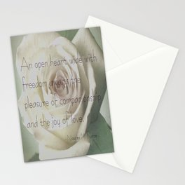 An Open Heart  Stationery Cards