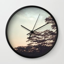 the faint sunset Wall Clock