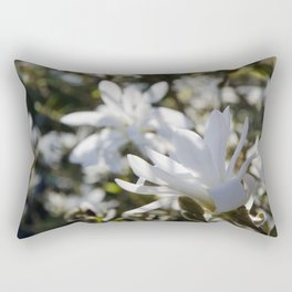 Luminous White Rectangular Pillow