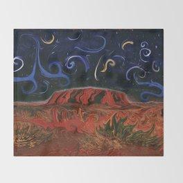 Uluru by Night Throw Blanket