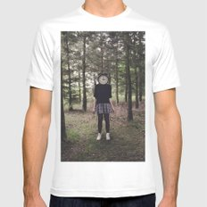 Clock Face Mens Fitted Tee White MEDIUM