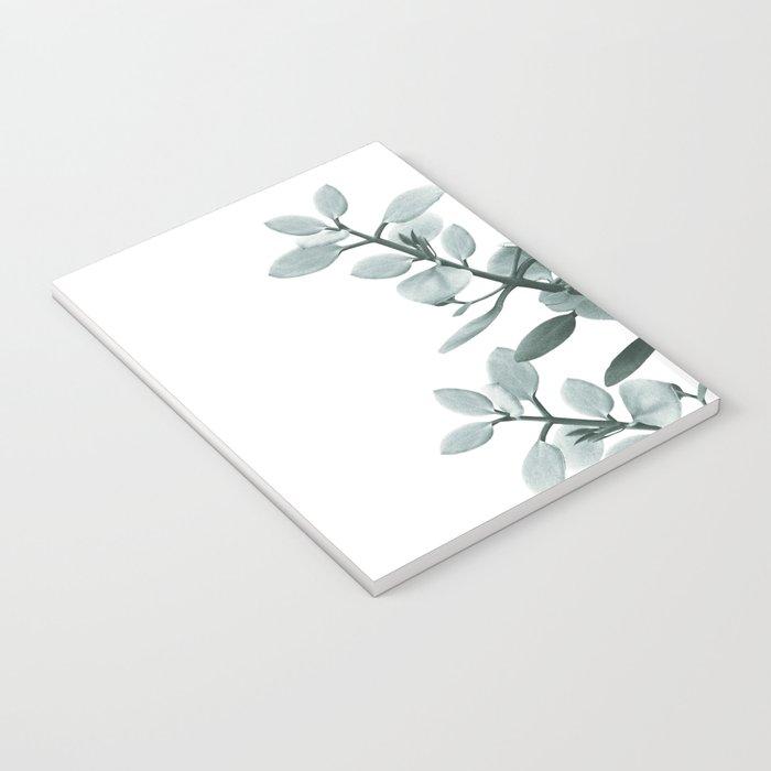 Eucalyptus Leaves Green Vibes #1 #foliage #decor #art #society6 Notebook