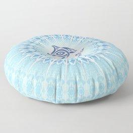 Dolphins Mandala Blue Floor Pillow