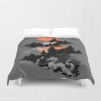 dragon ball z Duvet Covers featuring A samurai's life by Picomodi