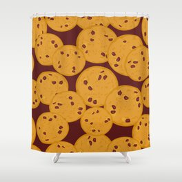 Chocolate chip cookie Shower Curtain