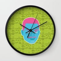 fresh prince Wall Clocks featuring Carlton - The fresh prince of Bel-Air by Kuki