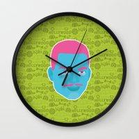fresh prince Wall Clocks featuring Carlton - The fresh prince of Bel-Air by Kuki