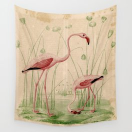 2 Flamingos Wall Tapestry