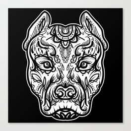 Pitbull tatto Canvas Print