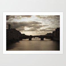 The Arno river  Art Print