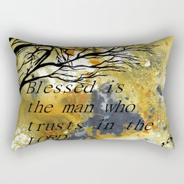Blessed Is The Man Who Trusts In The Lord Rectangular Pillow