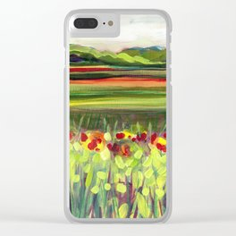 Wildflower Meadow Clear iPhone Case