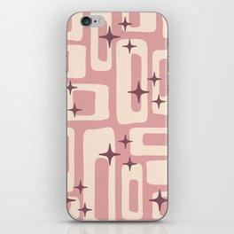 Retro Mid Century Modern Abstract Pattern 576 Dusty Rose iPhone Skin