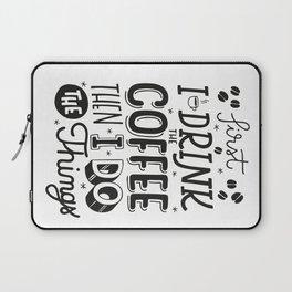 First Coffee Laptop Sleeve