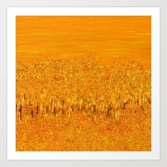 Tigers in Fields of Marigold Art Print