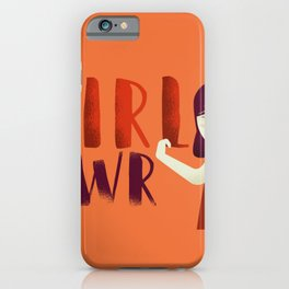 Do It Like A Girl - Terracotta Typography iPhone Case