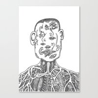 picasso Canvas Prints featuring Picasso by Octopiece
