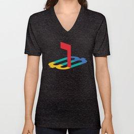 Deseret Logo - PrayStation Unisex V-Neck