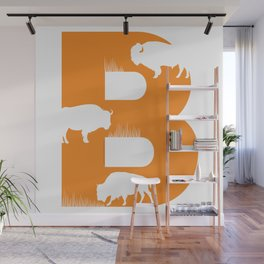 B is for Bison - Animal Alphabet Series Wall Mural