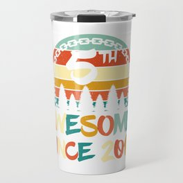 """Birthday Shirt For Those Who Were Born In 2014 With A Retro Vintage """"5th"""" Theme T-shirt Design Travel Mug"""