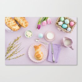 Easter breakfast Canvas Print