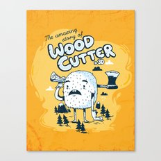 The WoodCutter Canvas Print