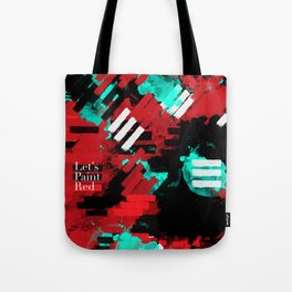 Paint Red Tote Bag