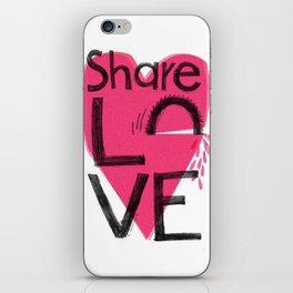 Share love iPhone Skin