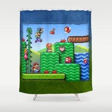 Super Mario 2 Shower Curtain