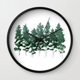 Lodgepole Pine Trees Wall Clock