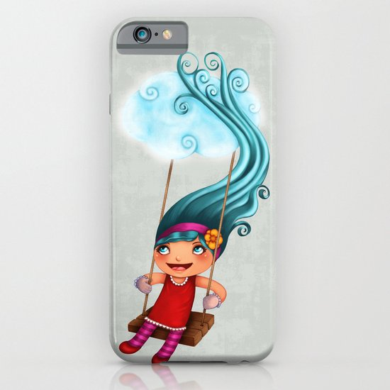 Girl with blue hair iPhone & iPod Case