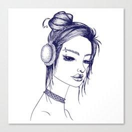 Suicide Girl Sketch Canvas Print