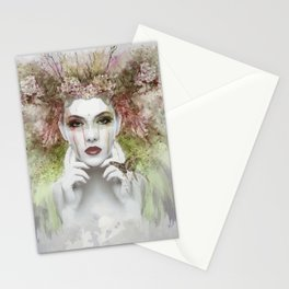 A floral Mina, beautiful Stationery Cards