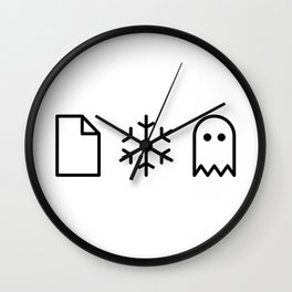 Paper, Snow, A Ghost. Wall Clock