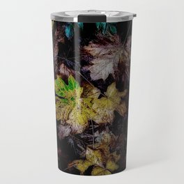 Autumn Patchwork, Maple Leaves Travel Mug