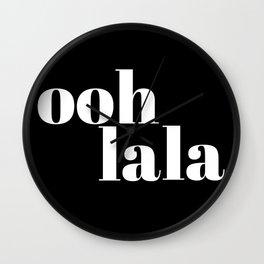 ooh la la VI Wall Clock