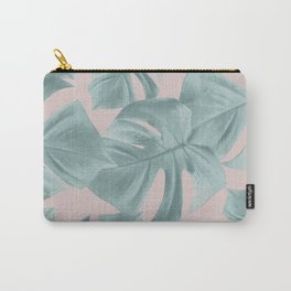Monstera Leaves Pattern #2 #tropical #decor #art #society6 Carry-All Pouch