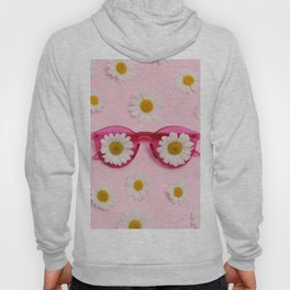 Pink sunglasses with daisies Hoody