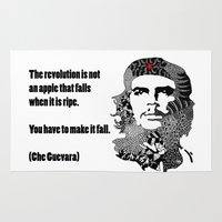 che Area & Throw Rugs featuring CHE GUEVARA by Rebecca Bear
