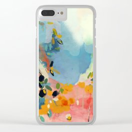 garden with sea view and olive tree Clear iPhone Case