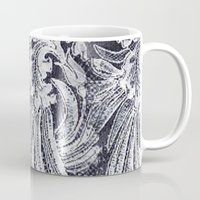 lace Mugs featuring WHITE LACE by BellagioVista