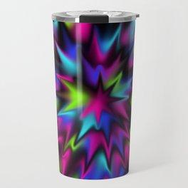 Black Candy Burst Travel Mug