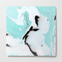 blue marble agathe Metal Print