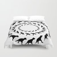 dinosaurs Duvet Covers featuring Dinosaurs by Trokola