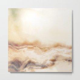 Painted Foggy Marble Metal Print