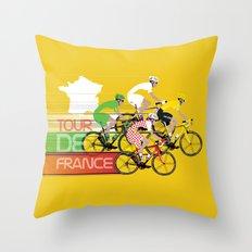 Tour De France Throw Pillow