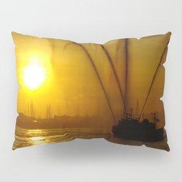 Fireboat at Sunset Pillow Sham