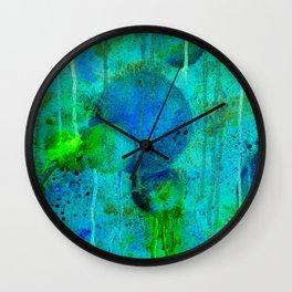 Blue Planets Bursting Plasma Wall Clock