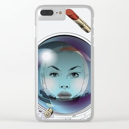 time and space Clear iPhone Case