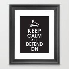 Keep Calm and Defend On Framed Art Print